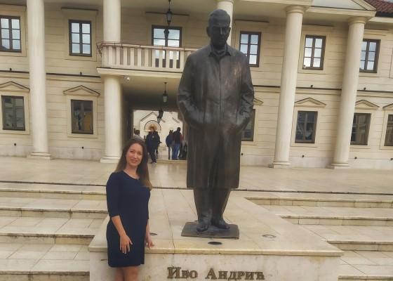 Spomenik Ivi Andriću u Andrićgradu
